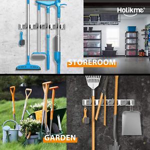 kitchen,Garage,Shed,Garden,Closet Details about  /Mop Broom Holder Wall Mount Metal for Pantry