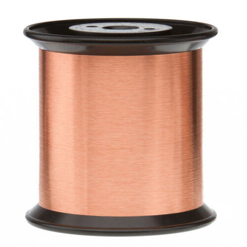 """35 AWG Gauge Enameled Copper Magnet Wire 5.0 lbs 51065/' Length 0.0061/"""" 155C Nat"""