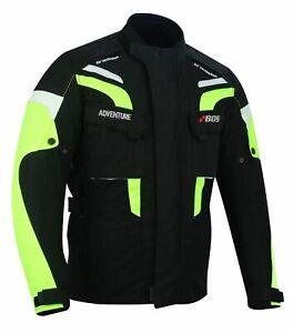 Summer-Motorrad-Blouson-Motorradjacke-Schwarz-Motorrad-Jacke-Textiljacke-Quad