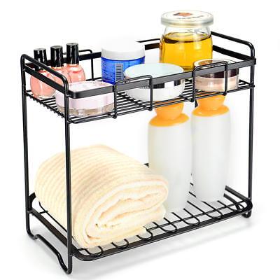 2-Tier Kitchen Rack Bathroom Organizer Spice Rack Stand Spice Jars Shelf Holder