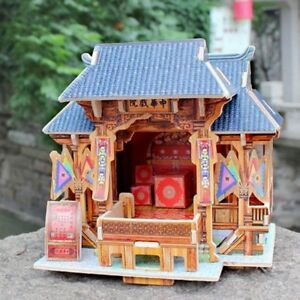 1/24 DIY Wooden 3D Dollhouse Miniature Kits - Antique Chinese Theatre Build