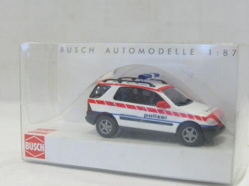 UU1072 BUSCH 48517 MB M-Klasse Polizei Schweiz OVP 1:87