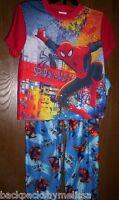 Marvel Spiderman Pajamas Boy's Size 8 Shirt Pants Pjs 2 Piece Set Spider-man