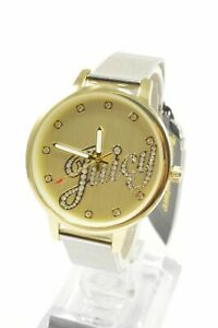 Juicy-Couture-JC1122CHTT-Gold-Dial-Silver-Stainless-Steel-Mesh-Bracelet-Ladie