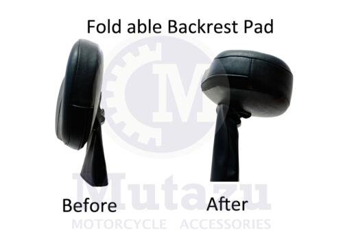 Mutazu Aftermarket Adjustable Rider Driver Backrest for Harley Touring  97-2013