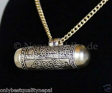 Medaillon Gau Buddha Tibet Glückssymbole Silber Amulett Talisman Nepal 49
