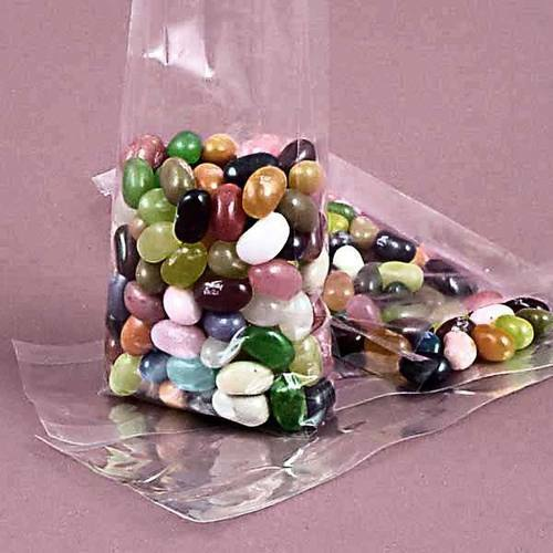 """100 Crystal Clear Cello Gusset Bags   4/"""" x 2/"""" x9/"""""""