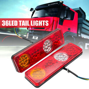 2X-36-LED-Tail-Lights-Ute-Trailer-Caravan-Truck-Boat-Stop-Reverse-Indicator-12V
