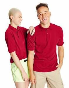 Hanes Golf Tee Men's Polo Shirt Cotton-Blend EcoSmart Jersey Men's Sport Comfort