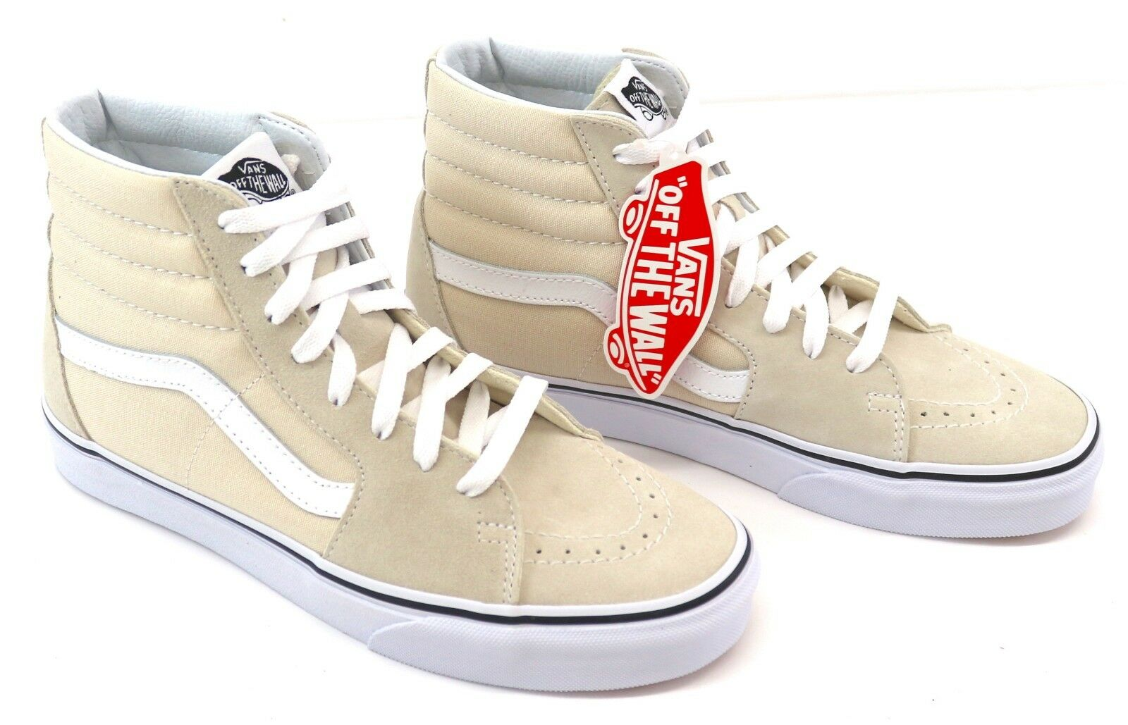 Vans Sk8-Hi Birch/True Trainers Weiß Unisex Hi Top Trainers Birch/True Sneakers 69734d