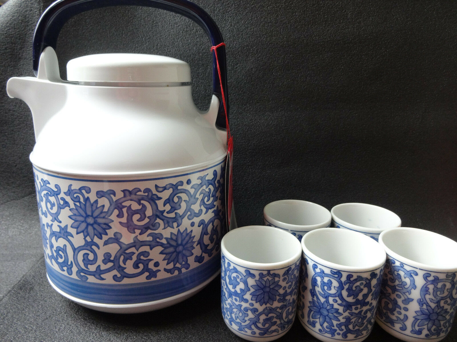 ZOJIRUSHI Thermos Tabletop Tea Pot & Worcester Cup Set style japonais