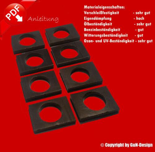 Reparaturset 8 Dämpfer gegen Wackelsitze des BMW Z3 Sitz Repairkit Car Seat E36
