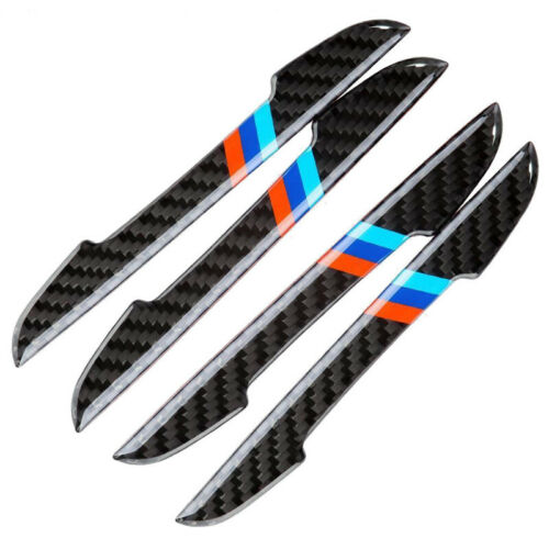 4pcs Carbon Fiber Sporty Door Scratch Bumper Scuff Stickers For BMW 0.7*5.9inch