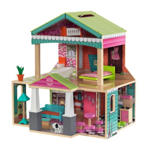 Pacific Bungalow Dollhouse with 14 Accessories by KidKraft