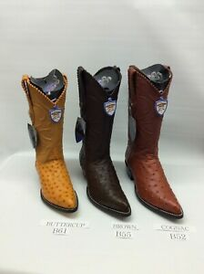 5ce0d8f553a Details about Men's Boots Genuine Full Quill Ostrich J Toe + Free Shipping!