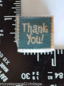 Thank-You-Wood-Mounted-Rubber-Stamp-Gently-Used-1-inch-square