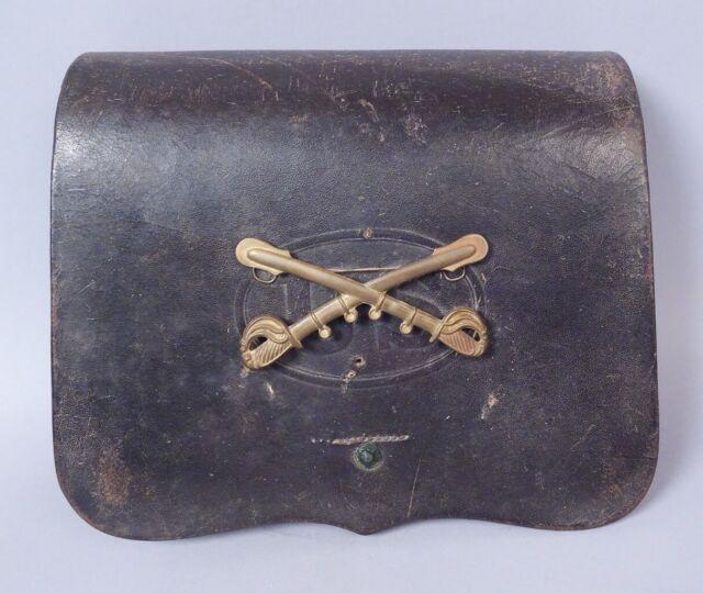 Antique US Civil War Pattern of 1864 .69 Caliber Leather Cartridge Box