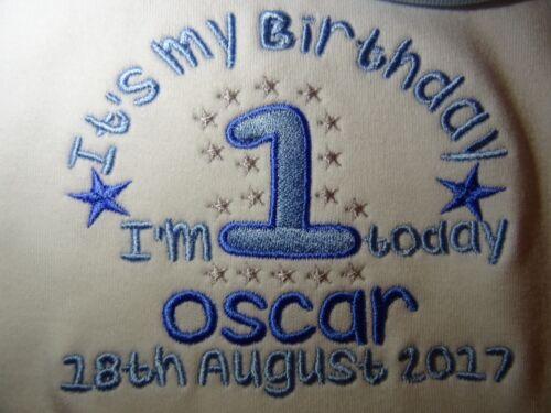 Personalised Embroidered IT/'S MY 1ST BIRTHDAY BABY TODDLER BIB GIFT KEEPSAKE