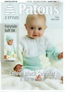 PA3894A BABIES DK COLOUR BLOCK SWEATER amp HAT KNITTING PATTERN 16210344055cm - Northwich, Cheshire, United Kingdom - PA3894A BABIES DK COLOUR BLOCK SWEATER amp HAT KNITTING PATTERN 16210344055cm - Northwich, Cheshire, United Kingdom