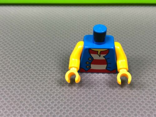 x1 LEGO Minifigure Torso Pirate Blue Vest over Red and White Striped Shirt