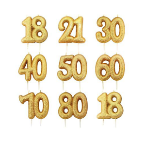 Gold-Glitter-Age-Number-Candle-Birthday-Party-Cake-Topper-Celebration-Decoration