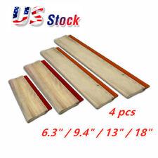 Us Stock 4 Pcs Silk Screen Printing Squeegee Ink Scraper Scratch Board