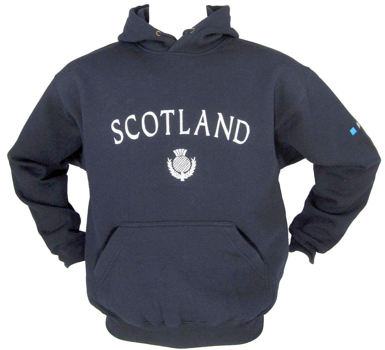 Scozia Cardo RICAMATO Live Per Rugby Navy Felpa Con Cappuccio Taglie XS-XXL