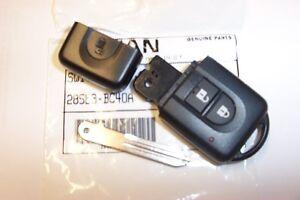 Genuine-Nissan-llave-remota-FOB-amp-menos-Entrada-Sin-cortar-clave-hoja-Qashqai-X-Trail
