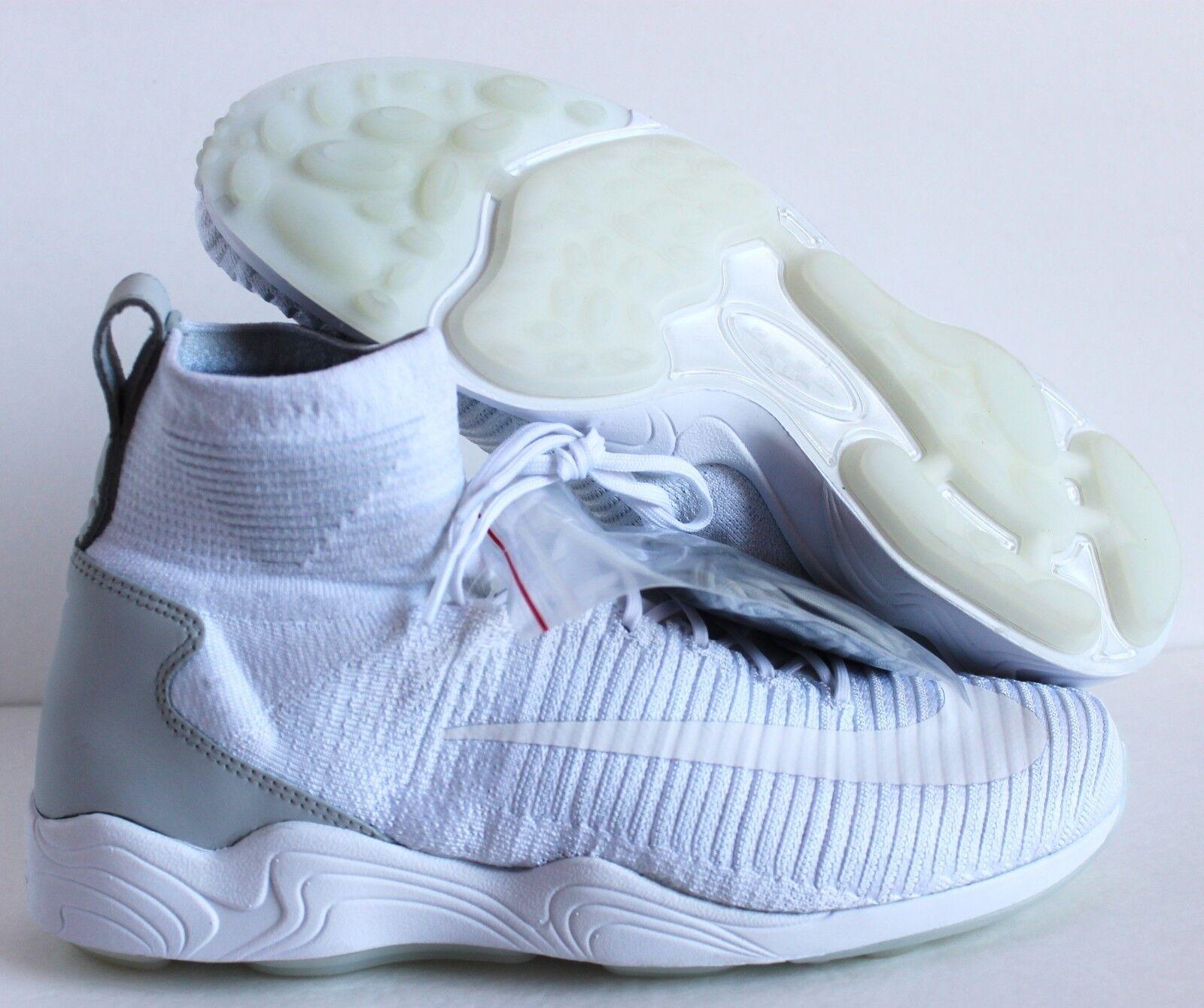 Nike zoom volubile xi 10 fk flyknit white-wolf grey sz 10 xi [844626-100] 09da62
