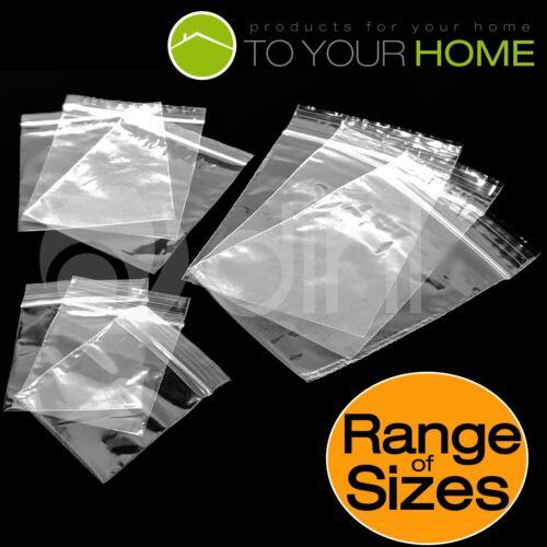 Bolsas De Sello De Agarre Dihl Plástico Transparente Resellables Zip Lock Todas las Tallas *