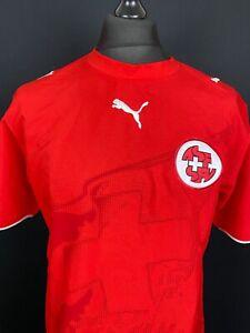 Switzerland 2006/2007 PUMA Home Football Shirt Men's Size M Soccer Jersey Trikot