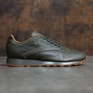 3a5032280f230f Men s Kendrick Lamar Reebok Classic Leather Lux Sneakers Olive Night ...