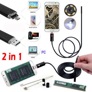 5M 6LED HD Android Endoscope Waterproof Snake Borescope USB Inspection Camera