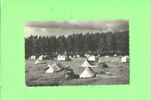 F-POSTCARD-COUTAINVILLE-MANCHE-TERRAIN-DE-CAMPING-TENT-CAMPING-TRAILER-amp-OLD-CAR