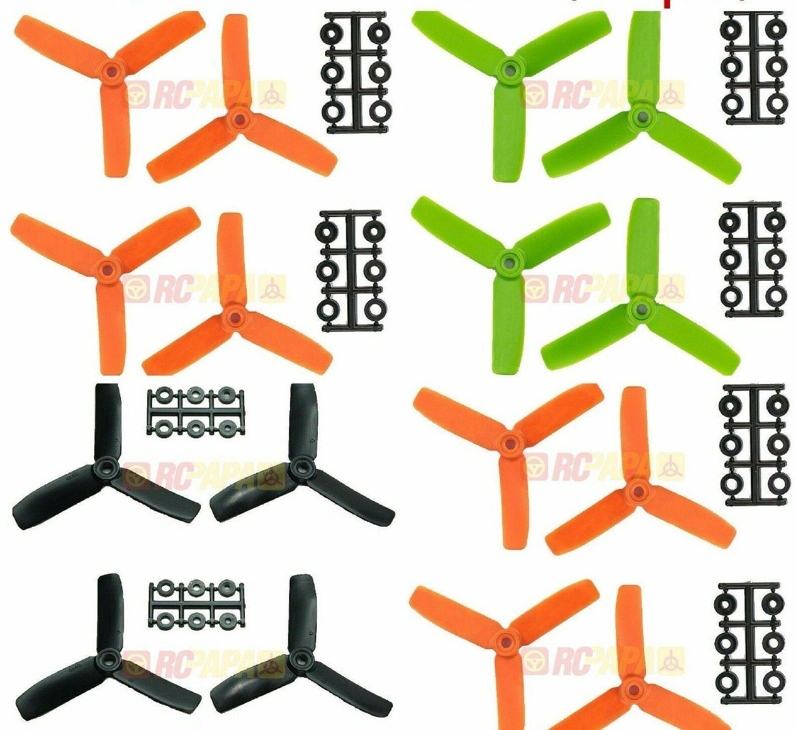 HQ HQProp 4x4x3 Glass Fiber Tri-Blade Propellers Props Mix color 50 SET 200PCS