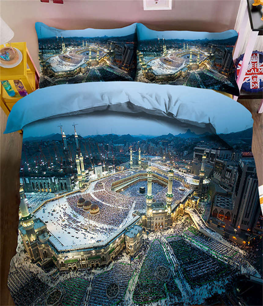 Dim Light City 3D Printing Duvet Quilt Doona Covers Pillow Case Bedding Sets