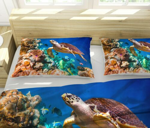 3D Sea Turtle Bedding Set Duvet Cover Comforter Cover Pillow Case