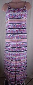 LC-Lauren-Conrad-Women-039-s-Size-2-Multi-Color-Floral-Maxi-Dress-Spaghetti-Strap