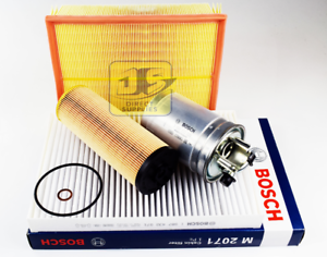BOSCH SERVICE KIT AUDI A4 2.5 TDi QUATTRO AIR OIL FUEL CABIN FILTERS
