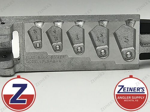 1 1//2 2 oz sizes 1 1//2 3//4 3379 New Do It Flat Bank Sinker Mold