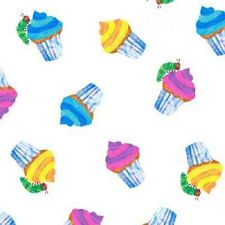 Andover Happy Birthday by Eric Carle 5876 M Cupcakes  BTY Cotton Fabric