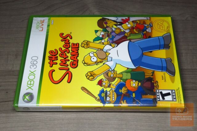 The Simpsons Game Microsoft Xbox 360 2007 For Sale Online Ebay