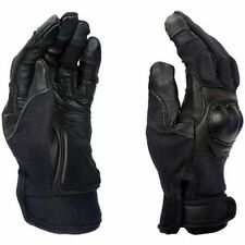 Hard Knuckle Shell Gloves Tactical Touch Screen Friendly Black Leather Large L