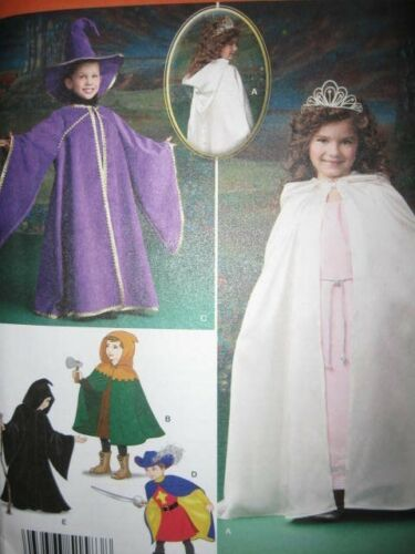 Pattern Child 3-8 Wzard Princess or Witch Dracula Clown Cape s1583 s1584 Costume