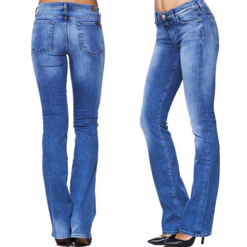 Miami Blue Blau NEU 7 SEVEN for all Mankind Damen Jeans Hose SKINNY BOOTCUT