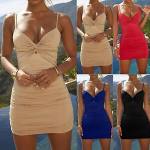 Women-Sexy-Backless-Strappy-Bodycon-Short-Mini-Dress-Party-Cocktail-Evening-Club