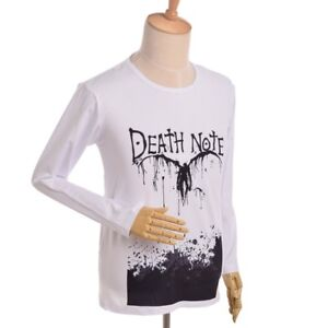 Men-Casual-Long-T-shirt-Cosplay-Jersey-Blouses-Tops-Anime-Death-Note-Light-Yagam