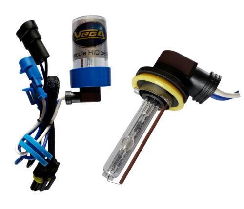 Ampoule HID xénon Vega® H9 55W 4300K embase coudée haut de gamme