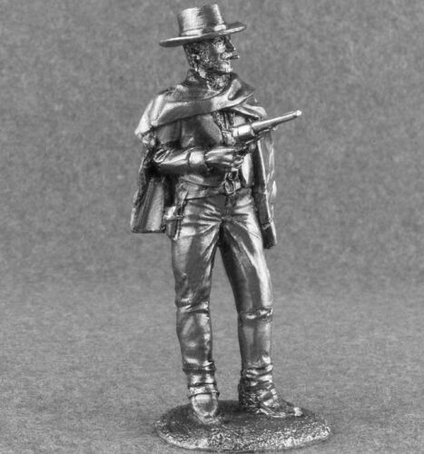 """Wild West Cowboy /""""Good/"""" Tin Metal Miniature 1//32 Action Figure Toy Soldiers 54mm"""