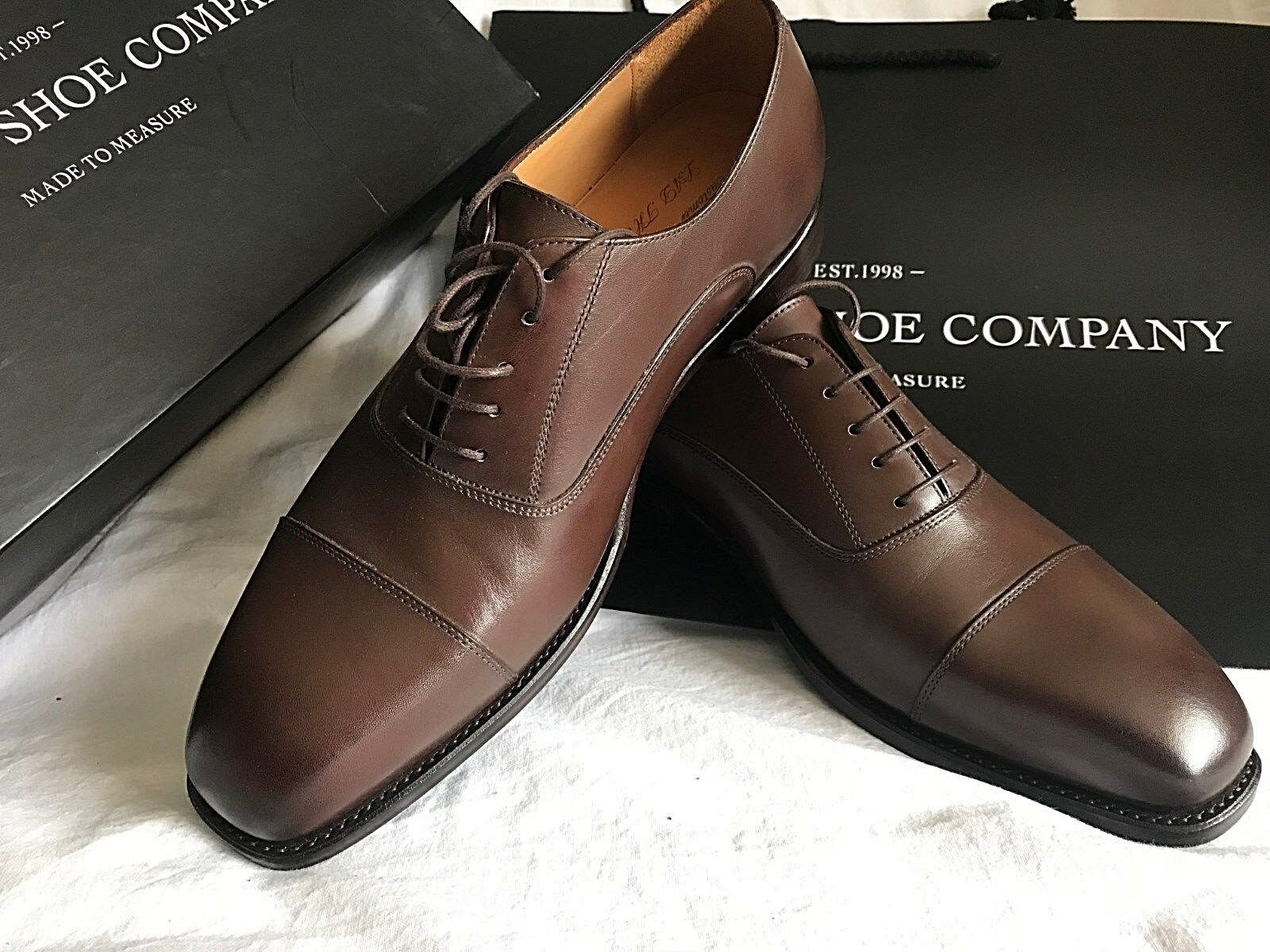 La chaussure gauche Company custom made Balmoral Oxford Brown Oxford Balmoral Formelles Chaussures 0e0df7